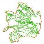نقشه-خطوط-هم-بارش-استان-خراسان-رضوی