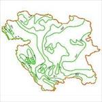 نقشه-خطوط-هم-بارش-استان-کردستان
