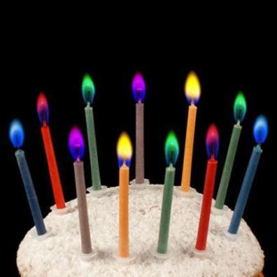 طرح توليد شمع با شعله های رنگی (قرمز، آبی، سبز)