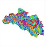 نقشه-ی-رستری-جهت-شیب-شهرستان-لردگان-(واقع-در-استان-چهارمحال-و-<font style=