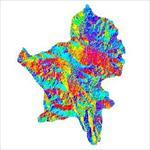 نقشه-ی-رستری-جهت-شیب-شهرستان-بروجن-(واقع-در-استان-چهارمحال-و-<font style=