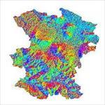 نقشه-ی-رستری-جهت-شیب-استان-همدان
