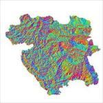 نقشه-ی-رستری-جهت-شیب-استان-کردستان
